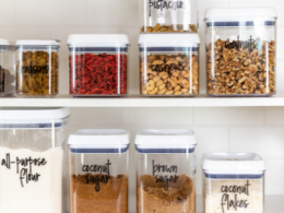 Organized Pantry using Storage Containers
