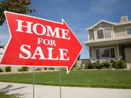 House with Home For Sale Sign