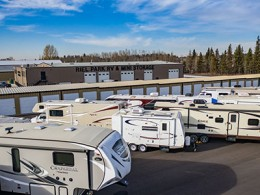 RVs parked at Riel Park RV & Self Storage