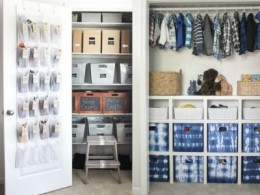 Organized Closet with door organizer