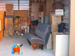 Storage Unit with contents organized